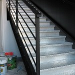 Escalier métallique à Vannes, Morbihan 56